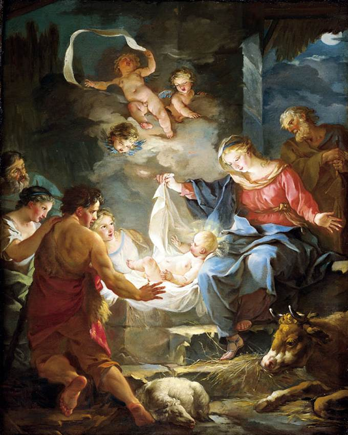 The Nativity, by Jean-Baptiste Marie Pierre, 18th Century
