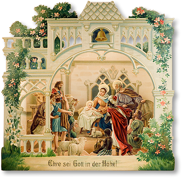 Victorian Nativity found at: http://www.papermodelkiosk.com/shop